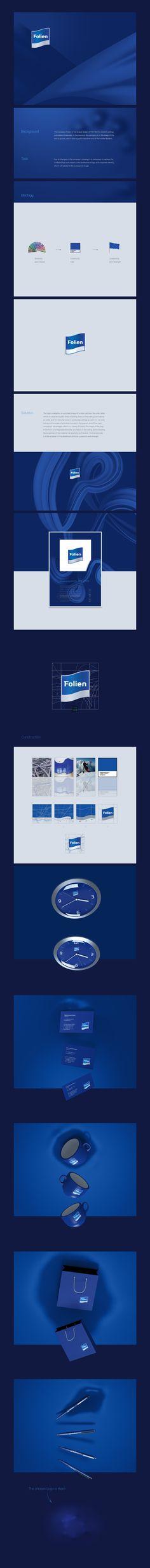 Folien by Denis Ulyanov, via Behance #logodesign #logo #logotype #design #branding #logoped #Russia