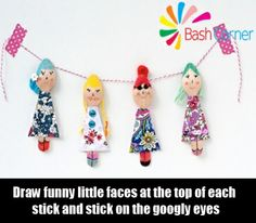 Doll Ice-Cream Stick Bookmarks