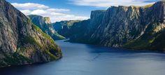 Fjord, Great Northern Peninsula, Newfoundland and Labrador