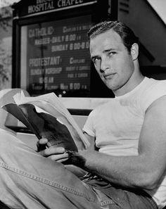 And reading a book-y   Marlon Brando Was A Perfect Man