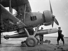 Loading Fairey Swordfish with torpedoes