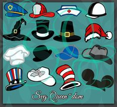 SVG Hat Police Fire Nurse Construction by SHAREnShareALIKE on Etsy