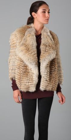 Vince Fur Jacket from shopbop. $1875.00