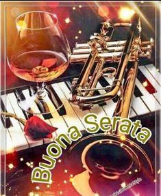 Immagini Belle di Buona Serata per Whatsapp - StatisticaFacile.it Good Evening Wishes, Cocktail, Red Wine, Alcoholic Drinks, Facebook, Genre, Spa, Board, Musica