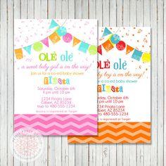 Fiesta Party Printable Baby Shower Invite  by PetitePartyStudio