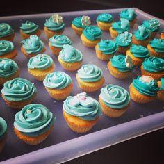 Mini cupcakes baby shower