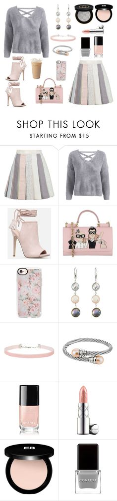 Untitled #788 by siriusfunbysheila1954 on Polyvore featuring Thom Browne, JustFab, Dolce&Gabbana, DaVonna, Miss Selfridge, Casetify, By Terry, Gucci, Edward Bess and Chanel