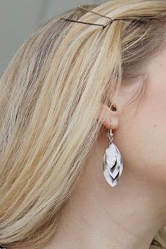 Bay to Baubles Cardena Triple Layer Oval Earrings
