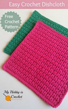 Easy Crochet Dishcloth - Free Crochet Pattern - Written Instructions and Crochet Chart dish cloths Crochet Simple, Crochet Chart, Knit Or Crochet, Crochet Gifts, Free Crochet, Wash Cloth Crochet Pattern, Crochet Wash Cloths, Simple Knitting, Crochet Geek