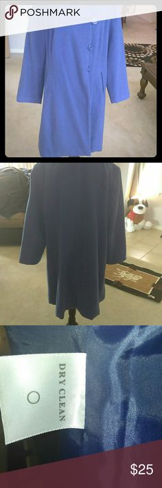Winter Coat Blue wool winter coat Jessica London Jackets & Coats Pea Coats