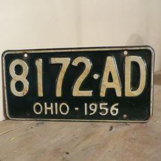 Vintage 1956 Ohio License Plate by oZdOinGItagaiN on Etsy, $15.00