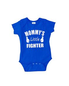 Mommy's Little Fighter onepiece sleeper newborn by youngandstyling