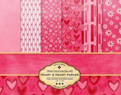 1/2 PRICE Heart 2 Heart Digital  Scrapbook Papers
