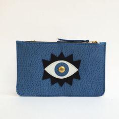 schwarz+leder+tasche,+brieftasche,+metallic,+bogen+von+La+Lisette+auf+DaWanda.com
