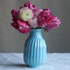 Frances Palmer Pottery Bud Vase: Neck dots 5.5 (comes in a range of soft pastel colors), $63 [FAM, LADIES]