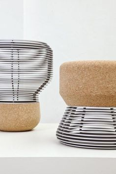 Unique & Creative Cork Furniture Accessories You Must Have It Furniture Inspiration, Design Inspiration, Wood Furniture, Furniture Design, Sofa Deals, Best Leather Sofa, Cork Crafts, Sustainable Design, Chair Design
