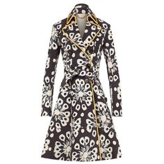 Burberry Tie-Dye Print NubuckTrench Coat ❤ liked on Polyvore featuring outerwear, coats, burberry, burberry coat, white coat, trench coat and burberry trenchcoat