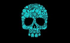 Colorful Sugar Skull Wallpaper Images & Pictures - Becuo