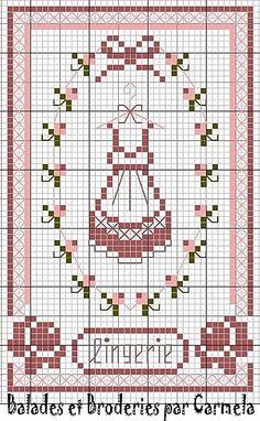 point de croix - cross stitch femme lingerie 1