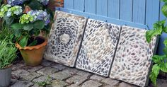 Made of concrete and pebbles can be made with little effort beautiful tread plates for the garden. Summer Diy, Summer Crafts, Summer Garden, Lawn And Garden, Garden Pots, Garden Tiles, Diy Garden, Most Beautiful Pictures, Cool Pictures