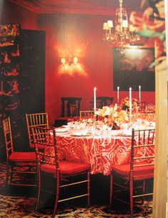 Billy Baldwin - Gilbert and Kitty Miller's dining room