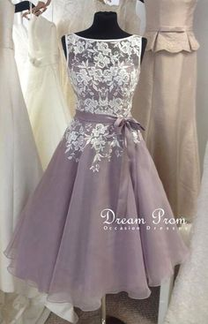 Lovely Chiffon Lace Short Prom Dress, Homecoming Dress,Bridesmaid Dress · Dream Prom · Online Store Powered by Storenvy