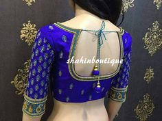 Looking for latest maggam work blouse designs for your sarees? Here we have curated latest models that will look super gorgeous to wear with your silk! Indian Blouse Designs, Blouse Back Neck Designs, Hand Work Blouse Design, Pattu Saree Blouse Designs, Simple Blouse Designs, Stylish Blouse Design, Bridal Blouse Designs, Aari Work Blouse, Sari Design