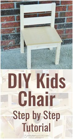 Woodworking Projects For Kids diy kids chair how to build a kids chair for beginners, wood chair kids diy projects - If you're wondering how to build a kids chair, here is a stepbystep tutorial for a simple DIY Kids Chair Kids Woodworking Projects, Wood Projects For Kids, Wood Projects For Beginners, Woodworking Kits, Wood Working For Beginners, Diy Pallet Projects, Popular Woodworking, Woodworking Furniture, Woodworking Equipment