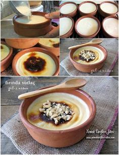 Fırında Sütlaç Tarifi Smoothie, Turkish Kitchen, Turkish Recipes, Homemade Beauty Products, Oatmeal, Food And Drink, Pudding, Sweets, Dishes