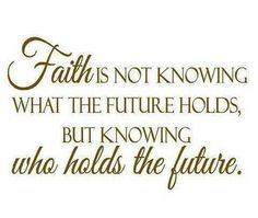 Im so thankful that God hold the future! Cuz He knows that I would mess everything up