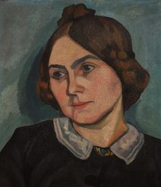 Self-portrait, Germany, date unknown, by Käthe Kruse. Currenly housed at the Käthe Kruse Museum in Donauworth, Germany, dedicated to the preservation and record of the works of the doll maker and artist.