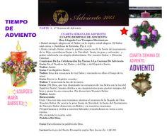 TIEMPO DE ADVIENTO. ORACION TERCERA SEMANA DE ADVIENTO. DOMINGO 22 DE DICIEMBRE DEL 2013. PARTE 1.  *♥ ♥LOURDES MARIA BARRETO♥ ♥*