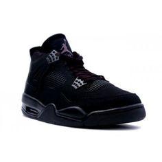 26c38121efc Nike Air Jordan 4 IV Retro Black Cat Black Black-Light Graphite-jordan shoes