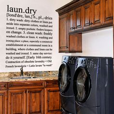 Vinyl Wall Decal Sticker Art  Laundry room by wordybirdstudios, $24.95
