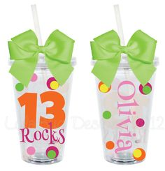 Birthday Rocks Personalized 16oz  Acrylic Tumbler. $15.00, via Etsy. Vinyl Tumblers, Acrylic Tumblers, Personalized Tumblers, Silhouette Cameo Vinyl, Silhouette Cameo Projects, Silhouette Files, Vinyl Crafts, Vinyl Projects, Diy Projects To Try