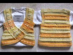 Luke-warm, relaxed, useful baby vests. Baby Boy Knitting Patterns, Knitting Stitches, Knitting Designs, Knit Patterns, Free Knitting, Baby Knitting, Crochet Baby, Baby Cardigan, Knit Vest