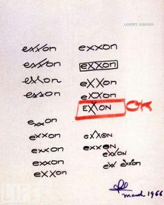 Raymond Loewy's design for Exxon.