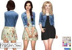 69d594c551d Spring Dress With Denim Jacket (30 Swatches) - created by NY Girl Sims Sims