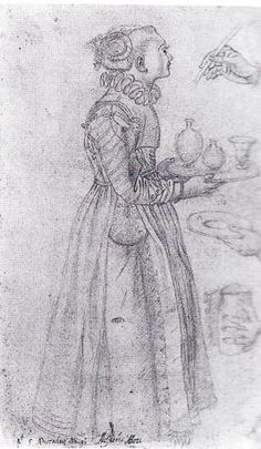 Allessandro Allori's Study of a Woman with a Tray, 1570-80
