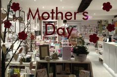 Our Mother's Day window display at The Stationery & Gift Boutique