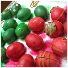 Dyeing eggs for Easter - a great activity for younger children