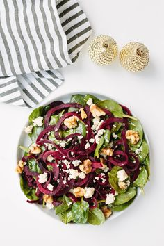 I recently went to a restaurant and ordered a beet salad. The salad was a small plates of roasted beets, finely ground walnuts, and blue cheese. While it was delicious, I couldn't help but th… #beetsaladrecipe