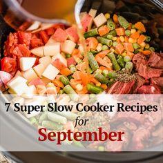 7 super slow cooker recipes for September | @hamiltonbeach