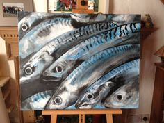 How about this - painted in acrylics by Sarah's daughter Beth, as a Christmas present for Holy Mackerel! I think a few commissions are on their way!
