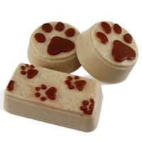 DIY Soap Making Recipe - Puppy Paws Soap. These handmade soaps are great for pet lovers and awesome for animal charity events!