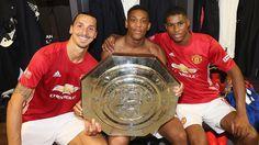 Zlatan Ibrahimovic, Anthony Martial & Marcus Rashford