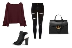 """""""Untitled #9"""" by macysinger ❤ liked on Polyvore featuring MANGO, River Island, Gucci and Boohoo"""