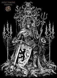 Viking Power, King Tattoos, Satanic Art, Evil Art, Dark Artwork, Avatar The Last Airbender Art, Arte Obscura, Occult Art, Desenho Tattoo