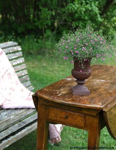 """I love this table! (even though this was a """"garden"""" picture!)"""