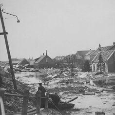Watersnoodramp, 1953.  Flood, 1953.  Foto: Jan Sturm.